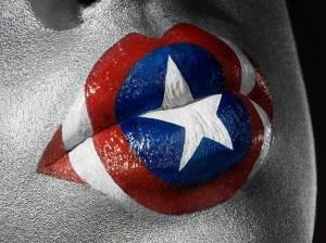 labios captain america